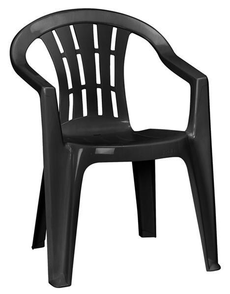 gartensessel stapelsessel stapelbar cuba graphit kunststoff ebay. Black Bedroom Furniture Sets. Home Design Ideas