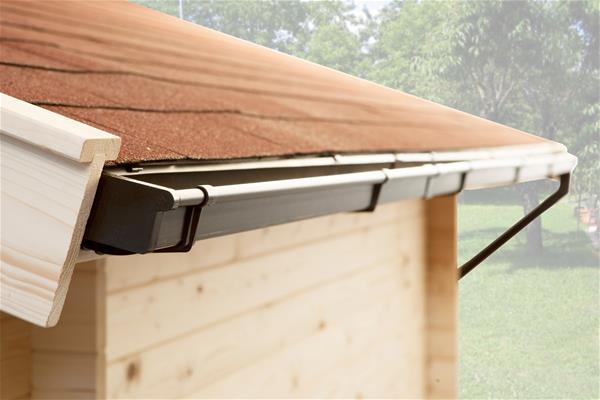 Kastenrinne flachdach  Weka Gerätehaus 20 mm Lagerhaus 607 Variante 1 kdi 410x304cm | eBay