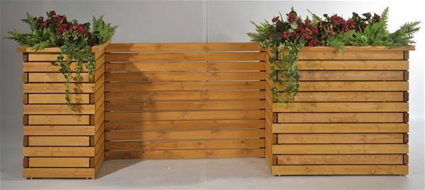 Blumenkübel / Pflanzkübel Raumteiler Mödling 130x47x100cm honig   eBay