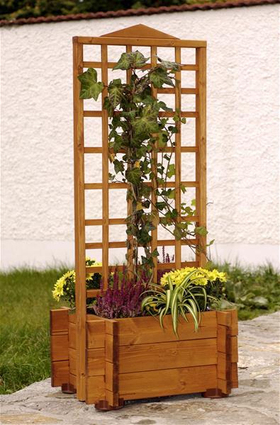 blumenkasten mit rankgitter hofgarten 55x46x120cm impr gniert ebay. Black Bedroom Furniture Sets. Home Design Ideas