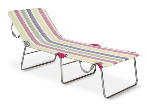 gartenliege dreibeinliege klappbar wannsee silber bunt alu ebay. Black Bedroom Furniture Sets. Home Design Ideas