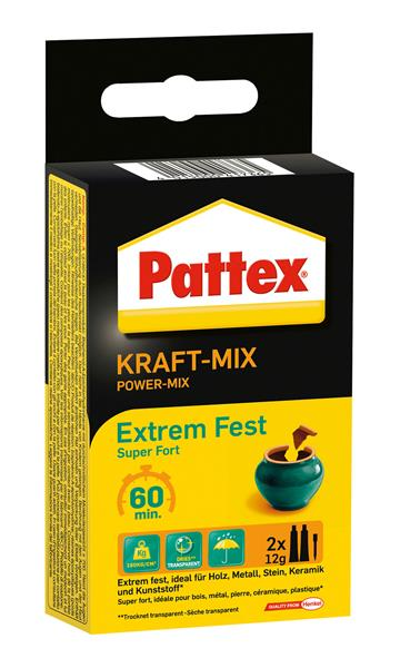 pattex power kleber 2komponenten kleber kraft mix extrem fest 2x11ml ebay. Black Bedroom Furniture Sets. Home Design Ideas