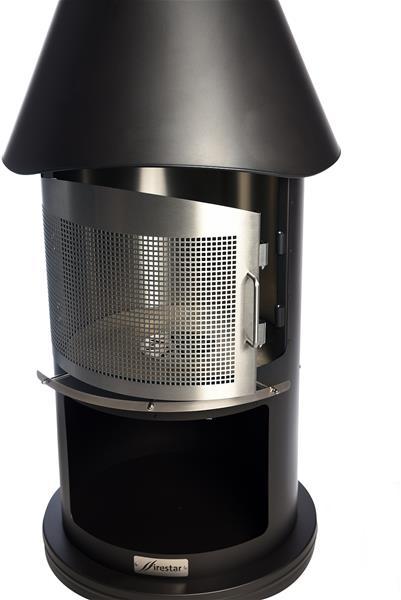 firestar gartenkamin grillkamin edelstahl classic kompakt 650 d grau ebay. Black Bedroom Furniture Sets. Home Design Ideas