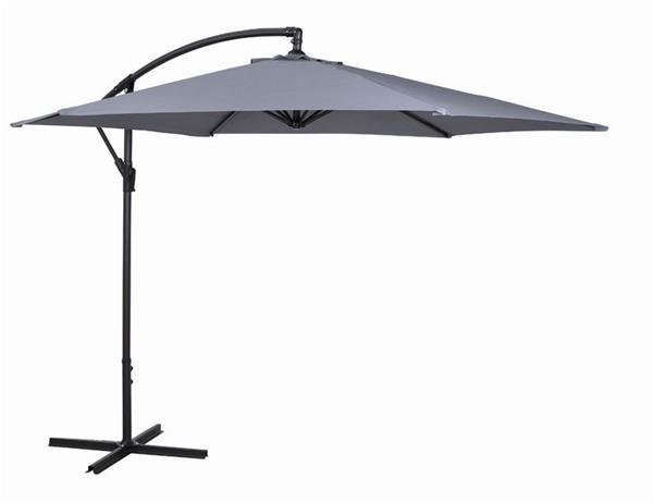 ampelschirm sonnenschirm siena garden solavis 300cm anthrazit grau ebay. Black Bedroom Furniture Sets. Home Design Ideas