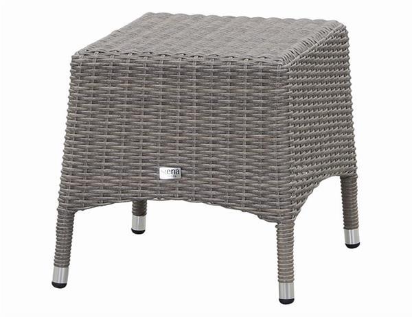 siena garden gartenhocker hocker marina stapelbar polyrattan grau ebay. Black Bedroom Furniture Sets. Home Design Ideas