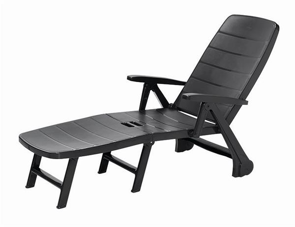 lafuma relaxliege futura air comfort classic xl new acier schwarz ebay. Black Bedroom Furniture Sets. Home Design Ideas