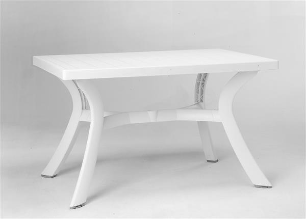 nardi gartentisch toscana 120 kunststoff wei 120x80cm ebay. Black Bedroom Furniture Sets. Home Design Ideas