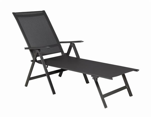 mwh gartenliege klappliege core alu antharzit grau ebay. Black Bedroom Furniture Sets. Home Design Ideas