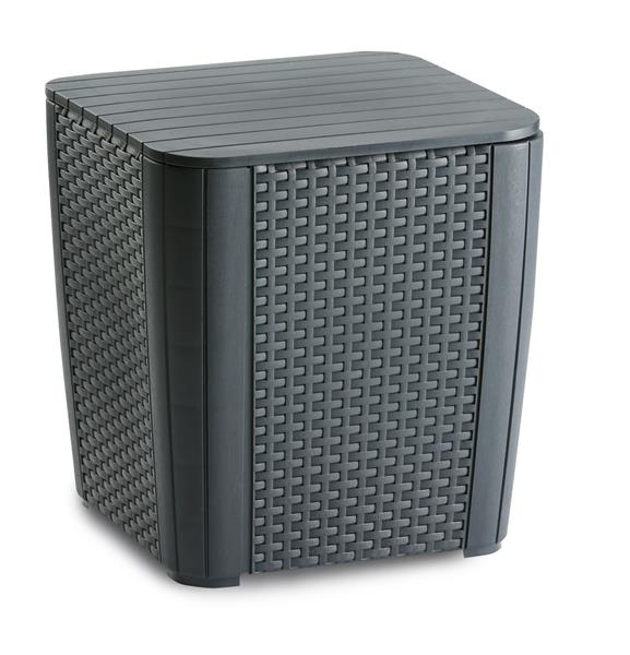 Beistelltisch gartentisch napoli 39x39cm kunststoff for Beistelltisch kunststoff