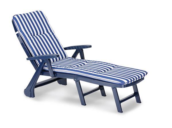 Rollliege Charleston Kunststoff blau + Polster 0268 96406822