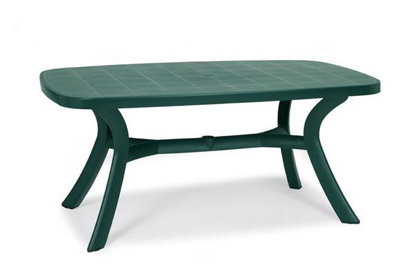 gartentisch elise 137 x 90 cm blau kunststoff ebay. Black Bedroom Furniture Sets. Home Design Ideas