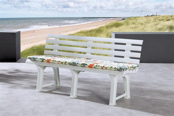 gartenbank parkbank 3 sitzer bregenz kunststoff wei ebay. Black Bedroom Furniture Sets. Home Design Ideas