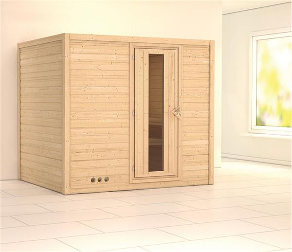 karibu sauna sonara 40mm ohne ofen holzt r 4010090758190 ebay. Black Bedroom Furniture Sets. Home Design Ideas