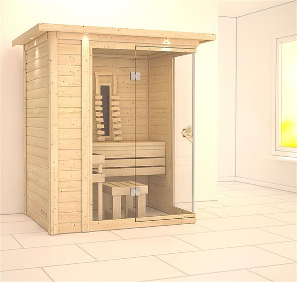 weka w rmekabine infrarotkabine 542 eck keramikstrahler ebay. Black Bedroom Furniture Sets. Home Design Ideas