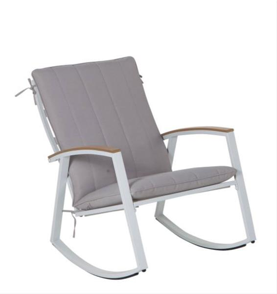 leco garten schaukelstuhl ambiente stahl grau grau ebay. Black Bedroom Furniture Sets. Home Design Ideas