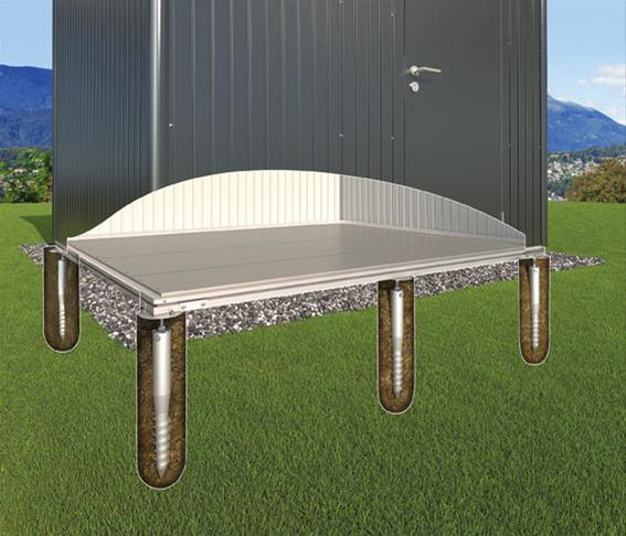 erdschrauben fundament f r biohort gartenhaus europa 2 ebay. Black Bedroom Furniture Sets. Home Design Ideas