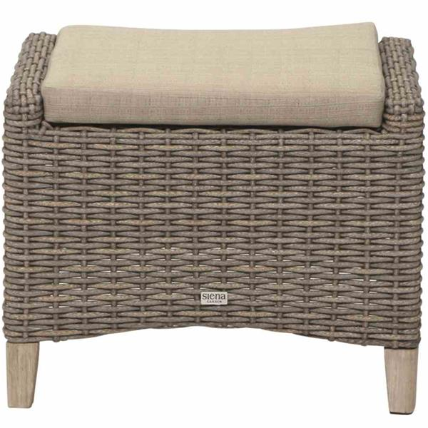 siena garden gartenhocker veneto polyrattan sepia ebay. Black Bedroom Furniture Sets. Home Design Ideas