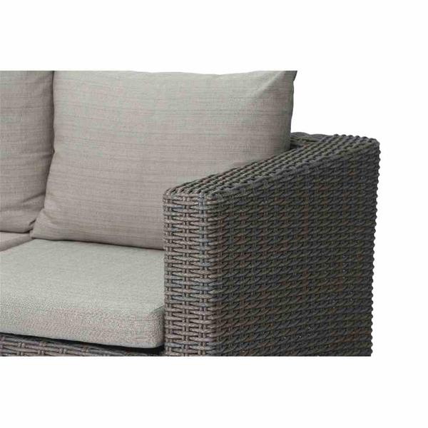 siena garden lounge sofa 3er bank veneto polyrattan sepia. Black Bedroom Furniture Sets. Home Design Ideas
