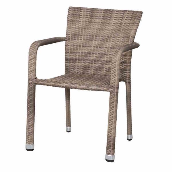 siena garden gartensessel stapelsessel minas polyrattan alu sand ebay. Black Bedroom Furniture Sets. Home Design Ideas