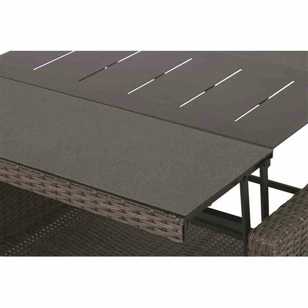 siena garden gartentisch teramo polyrattan ausziehb. Black Bedroom Furniture Sets. Home Design Ideas