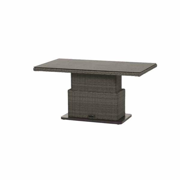 siena garden gartentisch lift tisch porto polyrattan grau 130x75cm 4019111483127 ebay. Black Bedroom Furniture Sets. Home Design Ideas