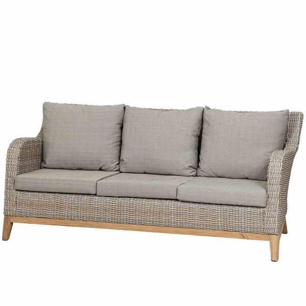 siena garden lounge sofa 3er sofa almada polyrattan oak. Black Bedroom Furniture Sets. Home Design Ideas