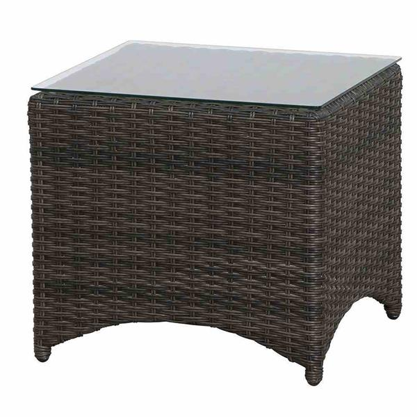 siena garden beistelltisch porto polyrattan grau 50x50cm ebay. Black Bedroom Furniture Sets. Home Design Ideas