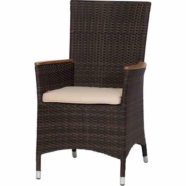siena garden gartensessel dining sessel luzern ii polyrattan maron ebay. Black Bedroom Furniture Sets. Home Design Ideas