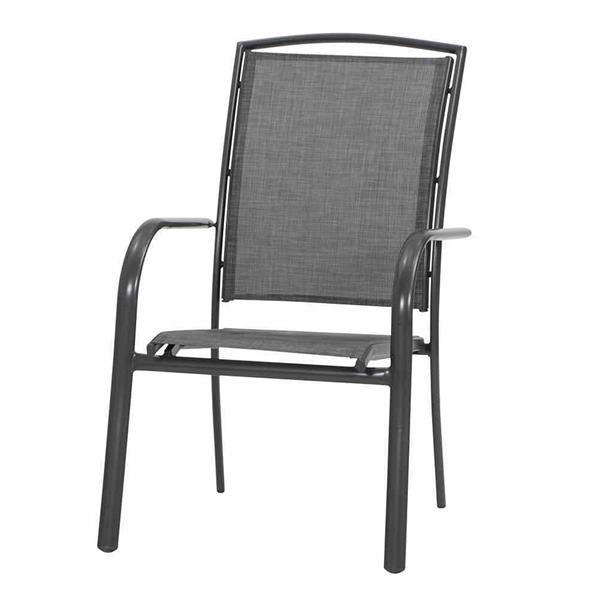 siena garden gartensessel stapelsessel livorno alu anthrazit ebay. Black Bedroom Furniture Sets. Home Design Ideas
