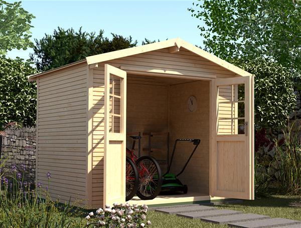 ger tehaus holz 28mm weka gartenhaus 218 gr 2 natur 320x235cm ebay. Black Bedroom Furniture Sets. Home Design Ideas