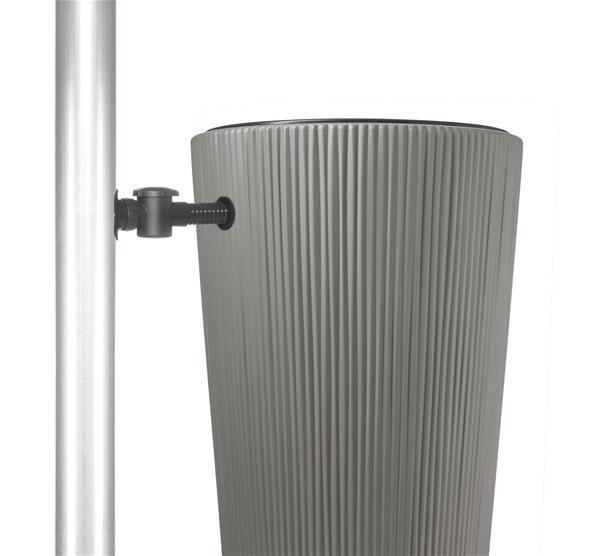 regentonne linus 2in1 220l mit pflanzschale zinkgrau graf. Black Bedroom Furniture Sets. Home Design Ideas