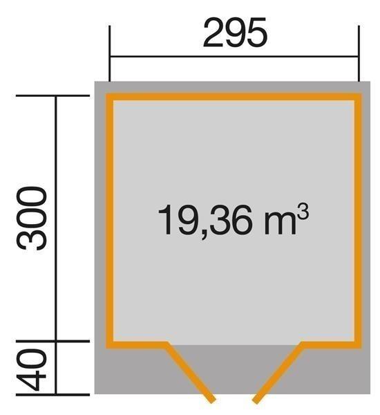 weka ger tehaus 28 mm gartenhaus 179 gr 4 anthrazit 354x375cm ebay. Black Bedroom Furniture Sets. Home Design Ideas