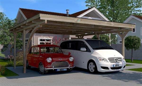 weka carport doppelcarport 616 mit rundbogen kdi 500x500cm ebay. Black Bedroom Furniture Sets. Home Design Ideas