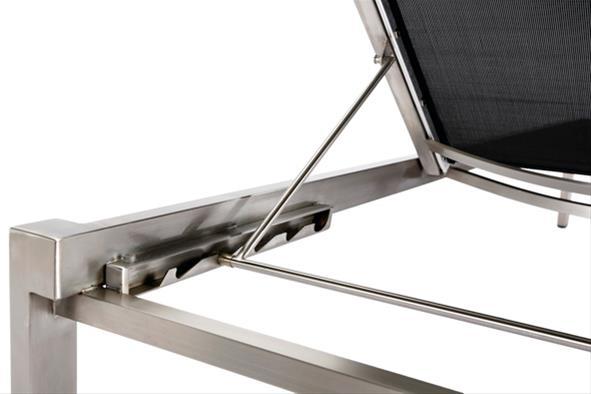 gartenliege rollliege marbella best stapelbar edelstahl schwarz ebay. Black Bedroom Furniture Sets. Home Design Ideas