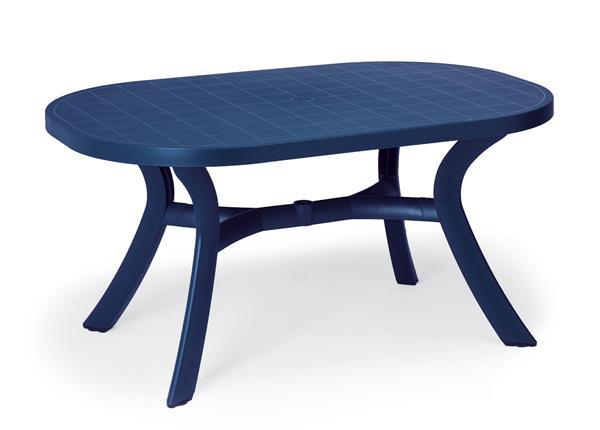 gartentisch kansas best oval kunststoff blau 145x95cm ebay. Black Bedroom Furniture Sets. Home Design Ideas