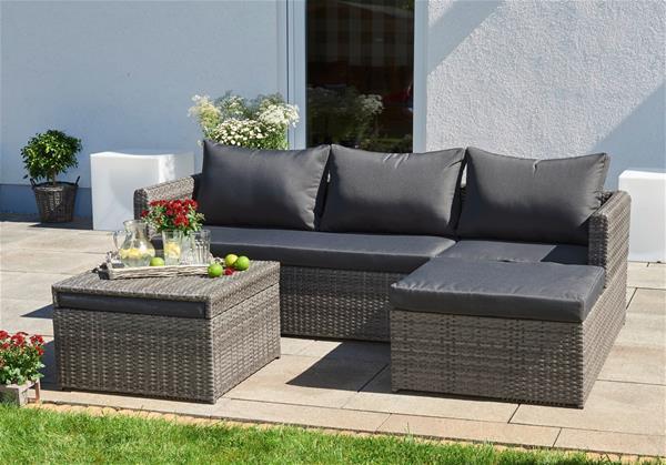 balkonm bel bistrom bel set bellavista polyrattan 3. Black Bedroom Furniture Sets. Home Design Ideas