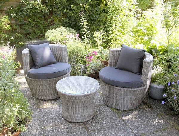 balkonm bel bistrom bel set bellavista polyrattan 3 teilig hellgrau ebay. Black Bedroom Furniture Sets. Home Design Ideas