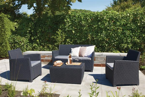 Allibert Lounge Mobel ~ Lounge möbel set corona allibert polyrattan 4 teilig graphite ebay