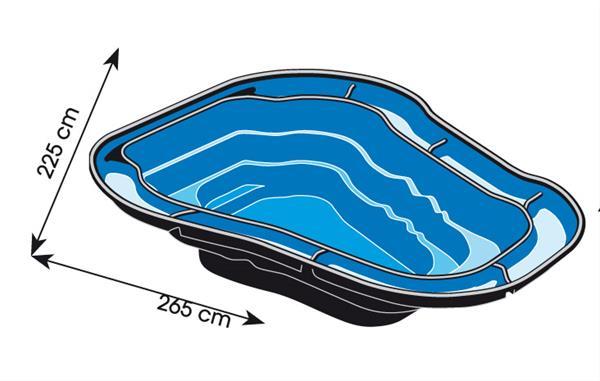 Gartenteich / Teichbecken Ubbink Ocean II HDPE 2000 L ...