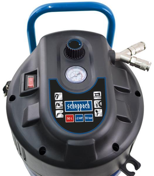 scheppach kompressor hc51v 10 bar 50 liter 230v 1500w ebay. Black Bedroom Furniture Sets. Home Design Ideas