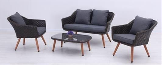 Sungorl Gartenmobel Lounge Set Golf Retro Polyrattan Mixed