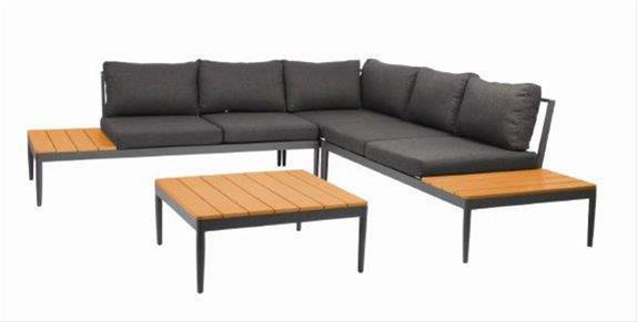 Gartenmobel Lounge Set Acamp Shade Alu Anthrazit Eiche
