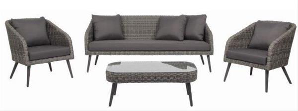 Details Zu Gartenmobel Lounge Set Acamp Stanley Lounge Polyrattan Grau