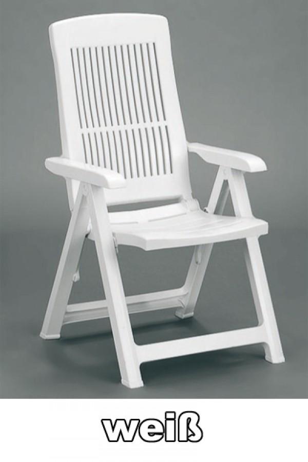 gartensessel klappstuhl klappbar tampa wei kunststoff ebay. Black Bedroom Furniture Sets. Home Design Ideas