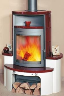 kaminofen dauerbrandofen hark avenso keramik bordeaux 7. Black Bedroom Furniture Sets. Home Design Ideas