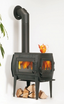 kaminofen globe fire charon ii raumluftunabh ngig guss schwarz 7kw bei. Black Bedroom Furniture Sets. Home Design Ideas